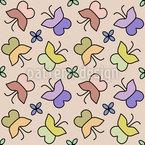 Bunter Schmetterling Nahtloses Vektormuster