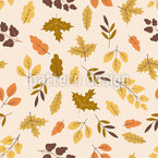 Autumn Leaf Discovery Seamless Vector Pattern Design
