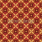 Ancient Roman Flower Geometry Seamless Vector Pattern Design