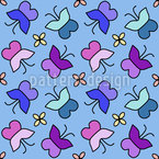 Dreaming Butterfly Seamless Vector Pattern Design