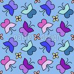 Träumender Schmetterling Nahtloses Vektormuster