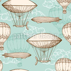 Vintage Flight Seamless Vector Pattern Design