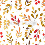Autumnal Leaf Variation Seamless Vector Pattern Design