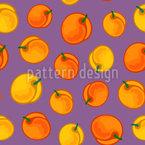 Stilisierte Aprikose Nahtloses Vektormuster