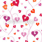 Herzkranz Nahtloses Vektor Muster