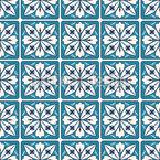Quadratische Blumen-Fliesen Nahtloses Vektormuster