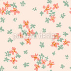 Abstract Flower Meadow Seamless Vector Pattern Design