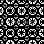 Circles And Stars Seamless Vector Pattern Design