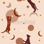 Katzen Im Himmel Nahtloses Vektormuster
