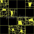 Striche In Quadraten Nahtloses Vektormuster