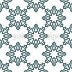 Symmetrische Schneeflocken Nahtloses Vektormuster