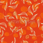 Abstract Flowers And Leaves Seamless Vector Pattern Design