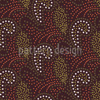 Dotted Paisley Seamless Vector Pattern Design