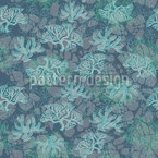 Corals Under Water Seamless Vector Pattern Design