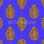 Stilisierte Monstera-Blätter Nahtloses Vektormuster