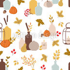 Autumnal Decoration Seamless Vector Pattern Design