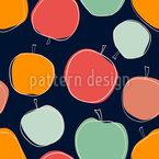 Scandi Apple Seamless Vector Pattern Design