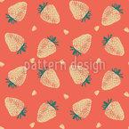 Abstrakte Erdbeerliebe Nahtloses Vektormuster