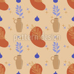 Abstract Plant Art Seamless Vector Pattern Design
