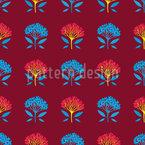 Abstrakte Kleine Bäume Nahtloses Vektormuster