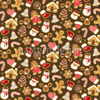 Christmas Gingerbread Variation Seamless Vector Pattern Design
