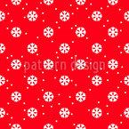 Festliche Schneeflockenstimmung Nahtloses Vektormuster