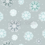 Gefrorene Schneeflocken Nahtloses Vektormuster