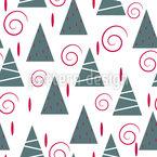 Einfacher Weihnachtsbaum Nahtloses Vektormuster