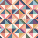 Colorful Retro Geometry Seamless Vector Pattern Design