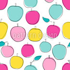 Colorful Apple Seamless Vector Pattern Design