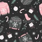 Weihnachtskleidung Nahtloses Vektormuster
