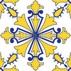 Symmetrische Portugiesische Fliesen Nahtloses Vektormuster