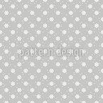 Calm Snowflake Mood Seamless Vector Pattern Design