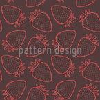 Erdige Erdbeeren Nahtloses Vektormuster