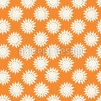 Strahlende Sonnenblume Nahtloses Vektormuster