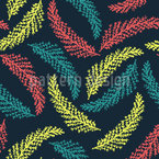 Schwebende Kiefernblätter Nahtloses Vektormuster