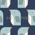 Stilisierter Pinguin Nahtloses Vektormuster