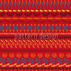 Multi Kulti Red Seamless Vector Pattern Design