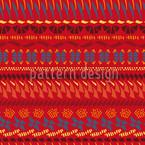 Multi Kulti Rot Nahtloses Vektor Muster