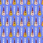 Hawaiianische Gitarre Nahtloses Vektormuster