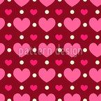 Liebevolles Herz Nahtloses Vektormuster