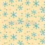 Frostige Schneeflocke Nahtloses Vektormuster