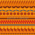 Multi Kulti Orange Seamless Vector Pattern Design