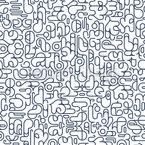 Futuristische Geometrische Glyphen Nahtloses Vektormuster