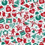 Weihnachtsfeier Elemente Nahtloses Vektormuster