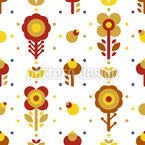 Stilisierte Volkskunst Blumen Nahtloses Vektormuster