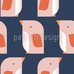 Süßer Pinguin Nahtloses Vektormuster