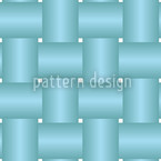 Intertwined Blue Seamless Vector Pattern Design