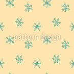 Baby Snowflakes Seamless Vector Pattern Design