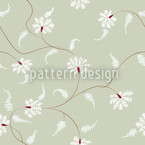 Flora Zack Water Lily Seamless Vector Pattern Design